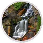 Crystal Falls Round Beach Towel