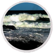 Crystal Fingers Of The Sea Round Beach Towel