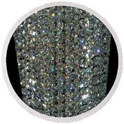 Crystal Ice Round Beach Towel