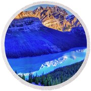Crystal Lake Round Beach Towel