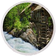 Crystal Mill Round Beach Towel