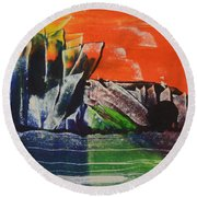 Crystal Quarry Round Beach Towel