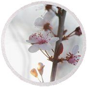 Crystal Sprout Round Beach Towel
