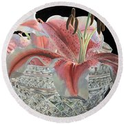 Crystal Stargazer Round Beach Towel