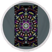 Crystal Sun Round Beach Towel