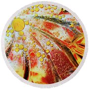 Crystal Sunburst Round Beach Towel