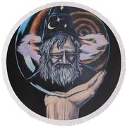 Crystal Wizard Round Beach Towel