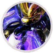 Crystalized Ecstasy Abstract  Round Beach Towel