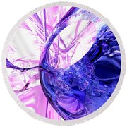 Crystallized Abstract Round Beach Towel