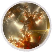 Crystals Of Gold Round Beach Towel