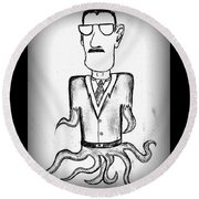 Cthulhus Guise Round Beach Towel