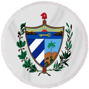 Cuba Coat Of Arms Round Beach Towel