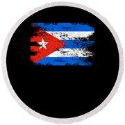Cuba Flag Gift Country Patriotic Travel Shirt Americas Light Round Beach Towel