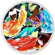 Cuban Dancers - Magical Rhythms... Round Beach Towel