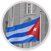 Cuban Flag Round Beach Towel