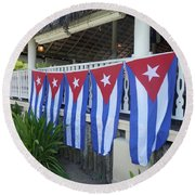 Cuban Flags Round Beach Towel