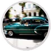 Cuban Green Old-timer Round Beach Towel
