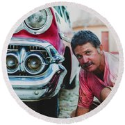 Cuban Mechanic Round Beach Towel