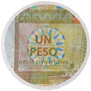 Cuban Peso Round Beach Towel