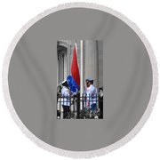 Cuban Raise Round Beach Towel