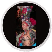 Cuban Tropicana Dancer Round Beach Towel