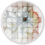 Cubed Pastels Round Beach Towel