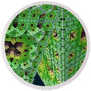 Cubes In Green Round Beach Towel