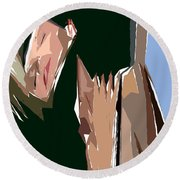 Cubism Series Xiii Round Beach Towel