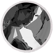 Cubism Series Xv Round Beach Towel