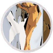 Cubism Series Xvi Round Beach Towel
