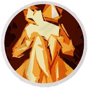 Cubism Series Xxii Round Beach Towel