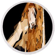 Cubism Series Xxiv Round Beach Towel