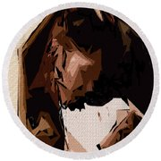 Cubism Series Xxv Round Beach Towel