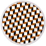 Cubism Squared Round Beach Towel