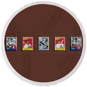 Cubs Card Collection Round Beach Towel
