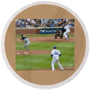 Cubs - Eye On The Ball Round Beach Towel