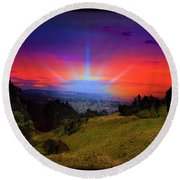 Cuenca Is Blessed II Round Beach Towel