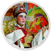 Cultural Opera Actor In Red Round Beach Towel