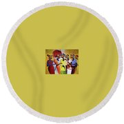 Culture Round Beach Towel