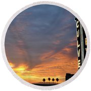 Culver City Marquee Round Beach Towel