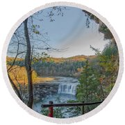 Cumberland Falls Ky From Eagle Falls Trail Round Beach Towel