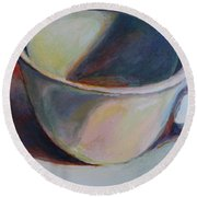 Cup And Shadow 1 Round Beach Towel