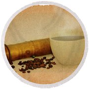 Cup Of Coffee Round Beach Towel