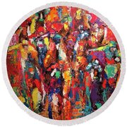 Cup Runneth Over Round Beach Towel