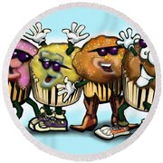 Cupcake Dance Round Beach Towel