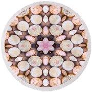 Cupcake Kaleidoscope Round Beach Towel