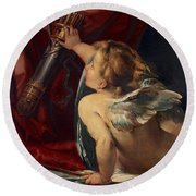 Cupid Round Beach Towel