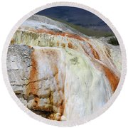 Cupid Spring At Mammoth Hot Springs Round Beach Towel