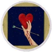 Cupids Arrow Round Beach Towel