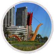 Cupid's Span At The Bay Round Beach Towel